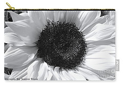 Carry-all Pouch featuring the photograph White Sunflower by Jeannie Rhode