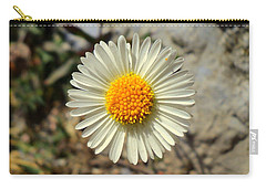 White Wild Flower Carry-all Pouch