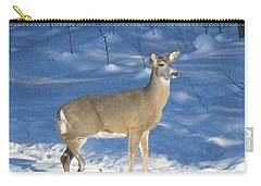 Carry-all Pouch featuring the photograph White Tail Deer by Brenda Brown
