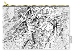 White-tail Encounter Carry-all Pouch by Bern Miller