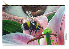 White Tailed Bumble Bee Upon Lily Flower Carry-all Pouch