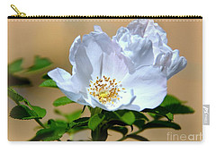 White Tea Rose Carry-all Pouch