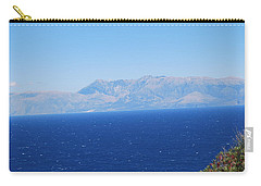 Carry-all Pouch featuring the photograph White Trail by George Katechis