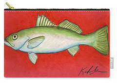 White Trout Carry-all Pouch