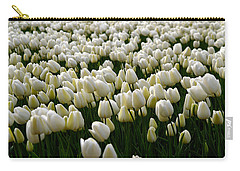 White Tulip Field  Carry-all Pouch