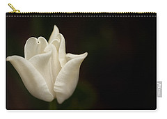 White Tulip Carry-all Pouch by Jacqui Boonstra