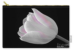 Carry-all Pouch featuring the digital art White Tulip With Pink by Jeannie Rhode