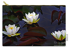 White Water Lilies Carry-all Pouch by Nina Ficur Feenan