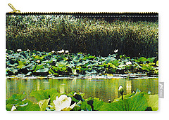 Carry-all Pouch featuring the photograph White Water Lotus  by Shawna Rowe