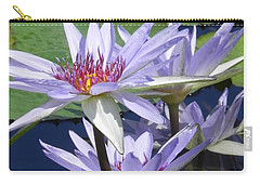 Carry-all Pouch featuring the photograph White Waterlilies by Chrisann Ellis