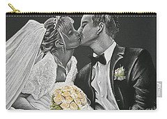 White Wedding Carry-all Pouch