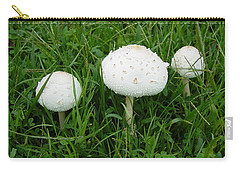 White Wild Mushrooms Carry-all Pouch