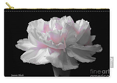 Carry-all Pouch featuring the digital art White With Pink Carnation by Jeannie Rhode