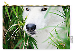 Carry-all Pouch featuring the photograph White Wolf by Erika Weber