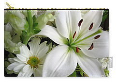 Carry-all Pouch featuring the photograph White Wonder by Rory Sagner