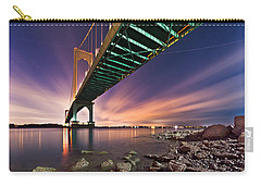 Carry-all Pouch featuring the photograph Whitestone Bridge by Mihai Andritoiu