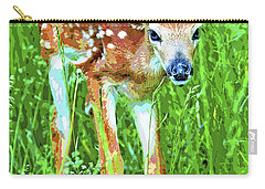 Whitetailed Deer Fawn Digital Image Carry-all Pouch