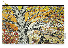 Whitetails And White Oak Tree Carry-all Pouch