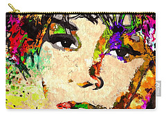 Whitney Houston Carry-all Pouch by Daniel Janda