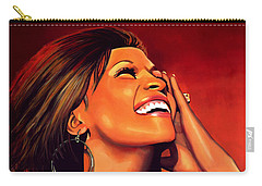 Whitney Houston Carry-all Pouch by Paul Meijering
