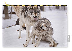 Carry-all Pouch featuring the photograph Who's The Boss by Wolves Only