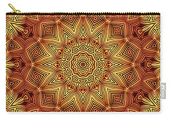 Wicker Pattern Mandala Carry-all Pouch