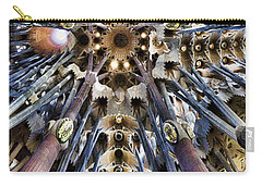 Wide Panorama Of The Interior Ceiling Of Sagrada Familia In Barcelona Carry-all Pouch