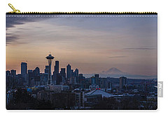 Wide Seattle Morning Skyline Carry-all Pouch