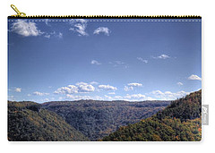 Wide Shot Of Tree Covered Hills Carry-all Pouch
