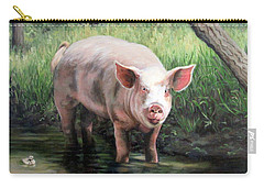 Wilbur In His Woods Carry-all Pouch by Sandra Chase
