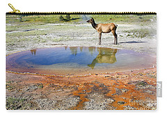 Wild And Free In Yellowstone Carry-all Pouch by Teresa Zieba