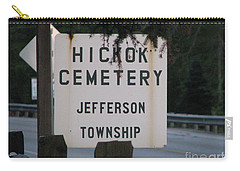 Carry-all Pouch featuring the photograph Wild Bill Hickok by Michael Krek