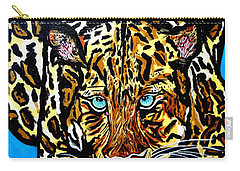 Carry-all Pouch featuring the painting Wild Cat by Nora Shepley