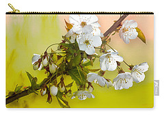 Wild Cherry Blossom Cluster Carry-all Pouch by Jane McIlroy