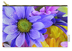 Wild Crazy Daisies 2 Carry-all Pouch by Kenny Francis