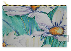 Carry-all Pouch featuring the painting Wild Daisys Two by Chrisann Ellis