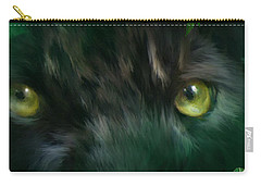 Wild Eyes - Black Panther Carry-all Pouch by Carol Cavalaris