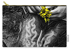 Wild Flower Boots Carry-all Pouch