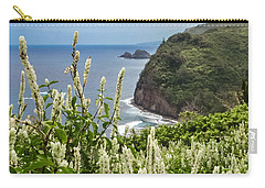 Wild Flowers At Pololu Carry-all Pouch by Denise Bird