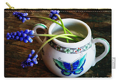Wild Flowers In Sugar Bowl Carry-all Pouch by Lainie Wrightson