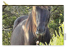 Wild Horse Close Up Carry-all Pouch