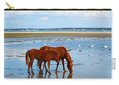 Wild Horses And Ibis Carry-all Pouch
