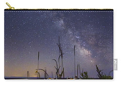 Wild Marguerites Under The Milky Way Carry-all Pouch by Mircea Costina Photography