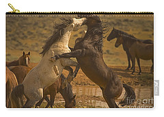 Wild Mustang Stallions - Signed Carry-all Pouch