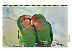 Wild Peach Face Love Bird Whispers Carry-all Pouch