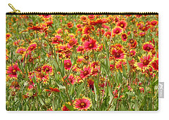 Carry-all Pouch featuring the photograph Wild Red Daisies #1 by Robert ONeil