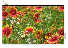 Carry-all Pouch featuring the photograph Wild Red Daisies #2 by Robert ONeil