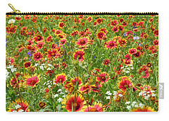 Carry-all Pouch featuring the photograph Wild Red Daisies #3 by Robert ONeil