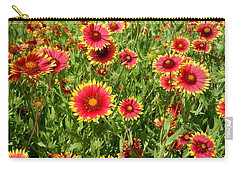 Carry-all Pouch featuring the photograph Wild Red Daisies #4 by Robert ONeil