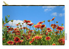 Carry-all Pouch featuring the photograph Wild Red Daisies #5 by Robert ONeil
